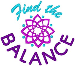 Find The Balance embroidery design
