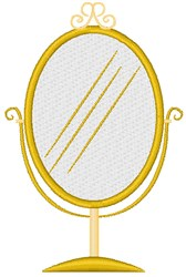 Make Up Mirror embroidery design