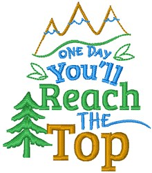 Youll Reach The Top embroidery design