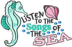 Songs Of The Sea embroidery design