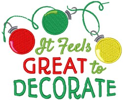 Great To Decorate embroidery design