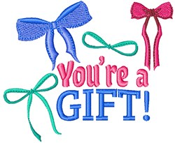 Youre A Gift! embroidery design