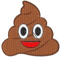 Poop Emoji embroidery design