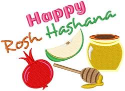 Happy Rosh Hashana embroidery design