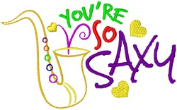Youre So Saxy embroidery design