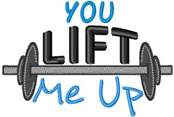 You Life Me Up embroidery design
