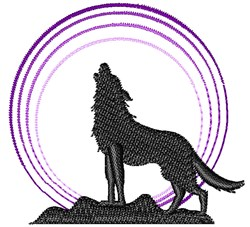 Howl At The Moon embroidery design
