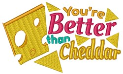 Better Than Cheddar embroidery design