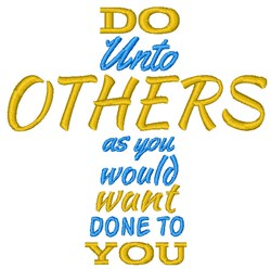 Do Unto Others Cross embroidery design