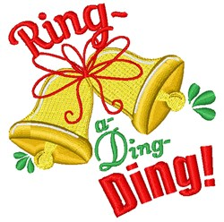 Ring A Ding Ding embroidery design