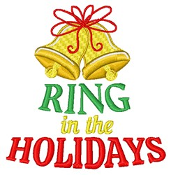 Ring In The Holidays embroidery design