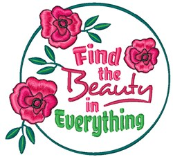 Find The Beauty embroidery design
