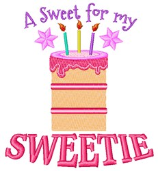 Sweet For My Sweetie embroidery design