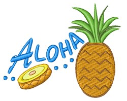 Aloha Pineapple embroidery design