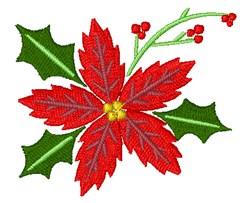 Poinsettia embroidery design