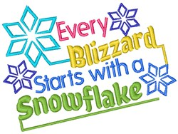 A Snowflake embroidery design