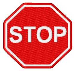 Stop Sign embroidery design