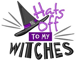 Hats Off Witches embroidery design