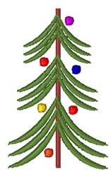 Skinny Christmas Tree embroidery design