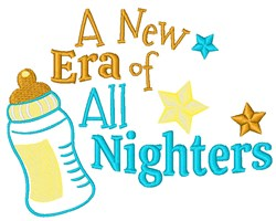 All Nighters embroidery design