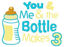 Bottle Makes 3 embroidery design