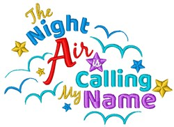 Night Air embroidery design
