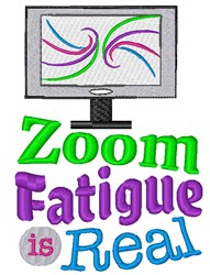 Zoom Fatigue embroidery design