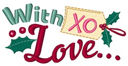 With Love Gift Tag embroidery design