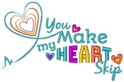 My Heart Skip embroidery design