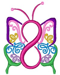 Infinity Butterfly embroidery design
