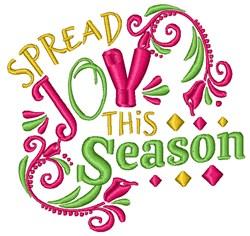Spread Joy This Season embroidery design