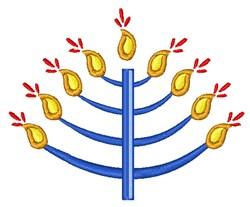 Hanukkah Menorah embroidery design