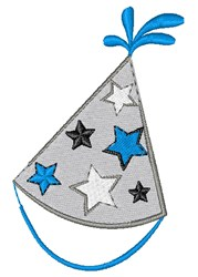 New Year Party Hat embroidery design