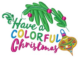 Colorful Christmas embroidery design