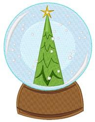 Tree Snow Globe embroidery design