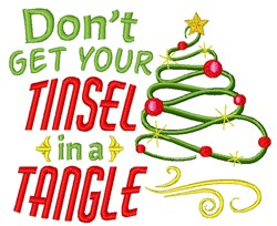 Tinsel In A Tangle embroidery design