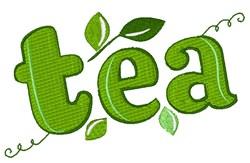 Tea embroidery design