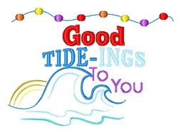 Good Tide-Ings To You embroidery design