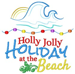 Holiday At The Beach embroidery design
