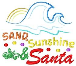 Sand Sunshine & Santa embroidery design