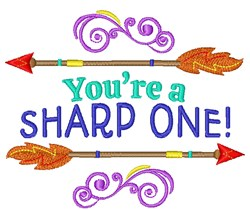 Youre A Sharp One! embroidery design