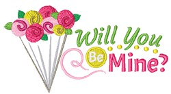 Will You Be Mine? embroidery design