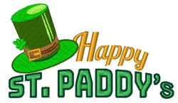Happy St .Paddys embroidery design