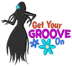 Get Your Groove On embroidery design