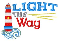 Light The Way embroidery design