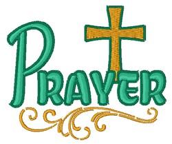 Prayer & Cross embroidery design
