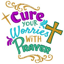 Cure With Prayers embroidery design