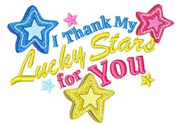 Thank My Lucky Stars embroidery design
