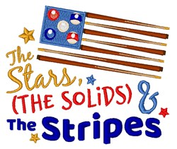 Stars, Solids & Stripes embroidery design