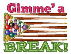 Gimme A Break! embroidery design